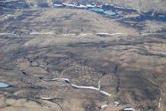 Tundra-Polygone von der Luft Lizenzfreies Stockbild