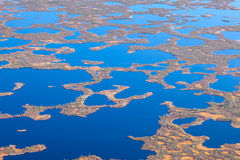 Tundra wetlands, top view Stock Image