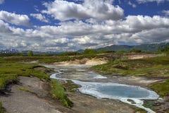 Tundra, wulkan, zmierzch Zdjęcie Stock