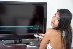 Tune the TV Stock Photo
