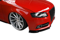 Tuned Audi S4 on white background Royalty Free Stock Photos