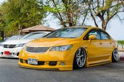 Tuned car Honda civic Royalty Free Stock Image