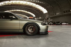 Tuned car, Honda CRX del Sol Stock Photos