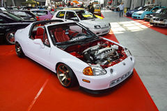 Tuned car, Honda CRX del Sol Stock Photo