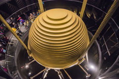 Tuned mass damper in Taipei 101 Royalty Free Stock Photo