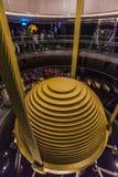 Tuned mass damper in Taipei 101 Stock Photo