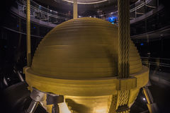 Tuned mass damper in Taipei 101 Stock Images