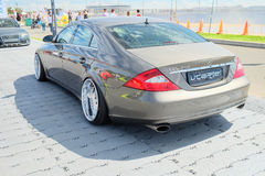Tuned MERCEDES CLS 350 at the city festival Royalty Free Stock Photos