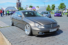 Tuned MERCEDES CLS 350 at the city festival Royalty Free Stock Image