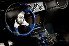 Tuned sport car interior Royalty Free Stock Images