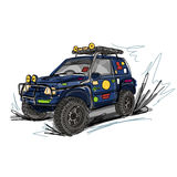 Tuned SUV car, sketch for your design Royalty Free Stock Images
