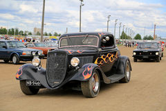 Tuned up Classic Ford Hot Rod Car royalty free stock photo