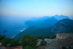 Tunektepe wzgórza Antalya indyk Obraz Stock