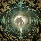 tunel światła ilustracji