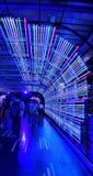 Tunel światła przy Ratchaprasong dla nowy rok świętowań Bangkok 2016 Obraz Stock