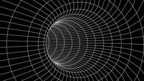 tunel abstrakcyjne Wektorowy wormhole 3D korytarza siatka royalty ilustracja