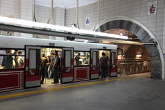 Tunel, Costantinopoli Fotografie Stock Libere da Diritti