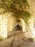 Tunel de pedra Imagens de Stock