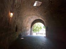 Tunel in de vesting Stock Foto's