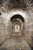 Tunel em uma cripta Fotografia de Stock Royalty Free