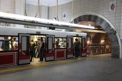 Tunel, Istanboel Royalty-vrije Stock Foto's