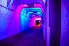 Tunel menchie i błękitów światła obrazy royalty free