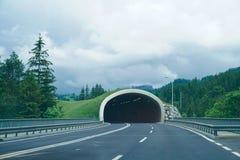 Tunel na autostradzie Fotografia Stock