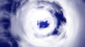 Tunel od chmur prowadzi niebo Animacja omijanie przez chmurnego tunelu royalty ilustracja