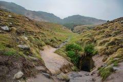 Tunel tunel plaży przejście blisko Dunedin, Otago, Południowa wyspa, Nowa Zelandia obraz stock