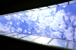 Tunel on the sky. Tunel on the blue sky Royalty Free Stock Photos