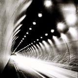 Tunel w BW Obrazy Royalty Free