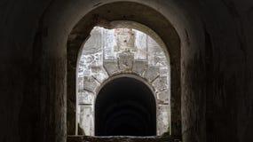 Tunel w Siesliska fortyfikacjach Salis Soglio Fotografia Royalty Free