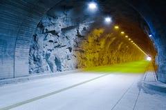Tunel z Światłami Zdjęcia Stock