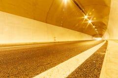 Tunel z Światłami Zdjęcie Stock