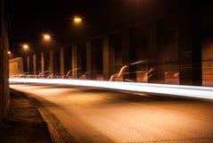 Tunel z chodzeń światłami Obraz Royalty Free