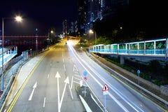 Tunel z ruchu drogowego śladem Zdjęcia Stock
