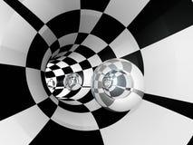 Tunelowy Checker sfery szkło Zdjęcia Stock