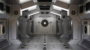 Tunelowy statku kosmicznego wnętrza fantastyka naukowa royalty ilustracja