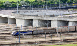 Tunelu korytkowy pociąg, Folkestone, Kent UK, Zdjęcia Royalty Free