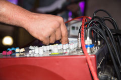 The tuner adjusts in the music console.  Stock Photography