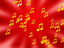 Tunes background Royalty Free Stock Photos