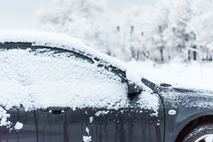 Tunes snow cars Royalty Free Stock Images