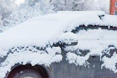 Tunes snow cars Royalty Free Stock Image