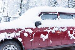 Tunes snow cars Stock Image