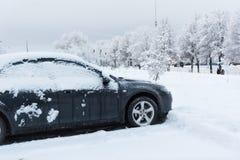Tunes snow cars Stock Photography