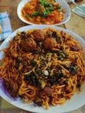 Tunesien-Nahrungsmittelgeschmackvolle Mahlzeit lizenzfreie stockfotos
