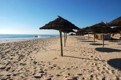 Tunesien - Yasmine Hammamet - Strand stockbilder