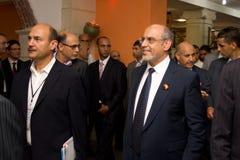 Tunesische Eerste minister die ICT4ALL opent Royalty-vrije Stock Foto's
