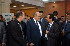 Tunesische Eerste minister die ICT4ALL opent Stock Foto