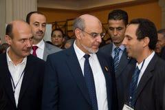 Tunesische Eerste minister die ICT4ALL opent Stock Afbeelding